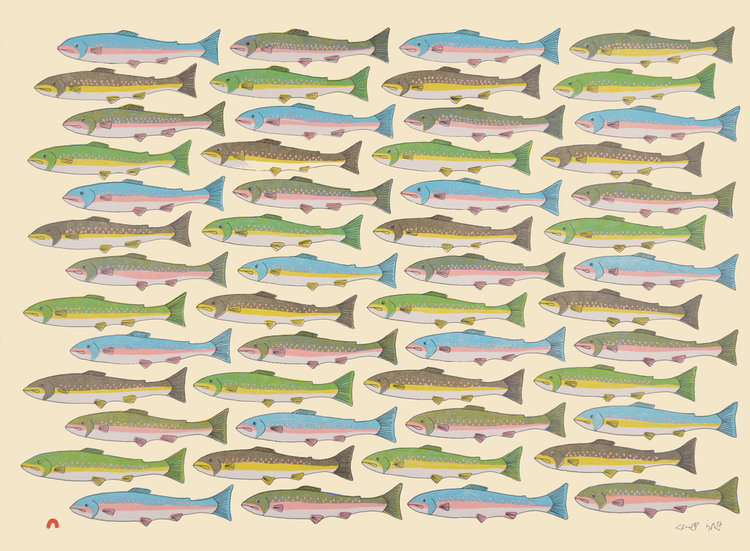 Pauojoungie SaggiakCounting Char - 2016lithograph56 x 76.5 cm$550