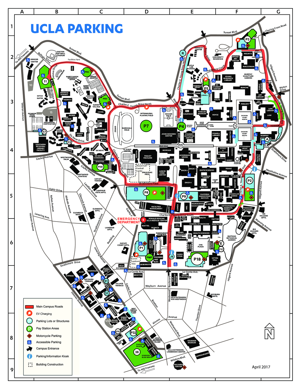 ucla parking map PNG P2 CampusParkingMap.png
