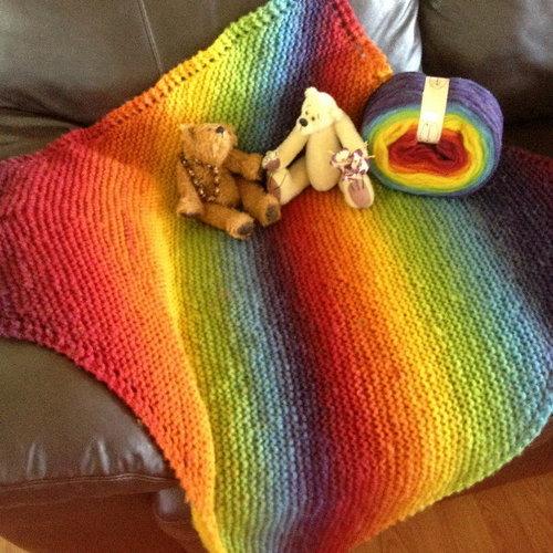 Rainbow Baby Blanket Magical Knit Kits