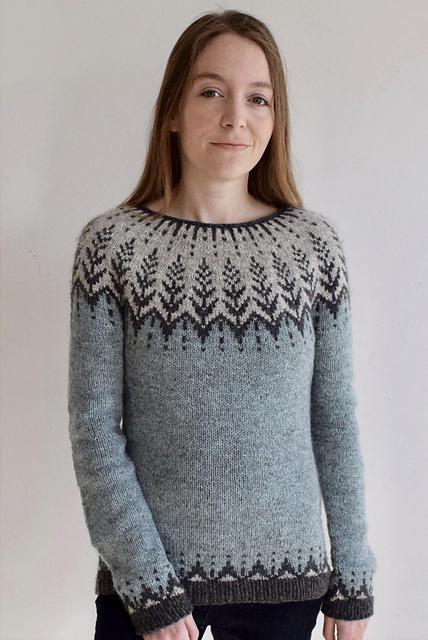 Vintersol Pullover in Lett Lopi