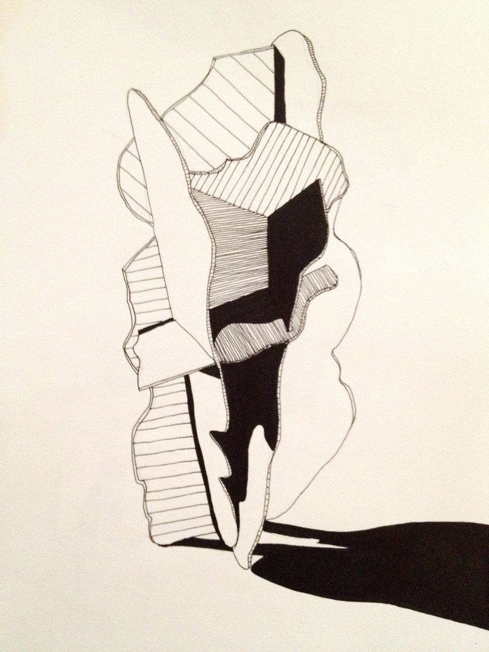 Form I  (Ink on Paper, 2011)