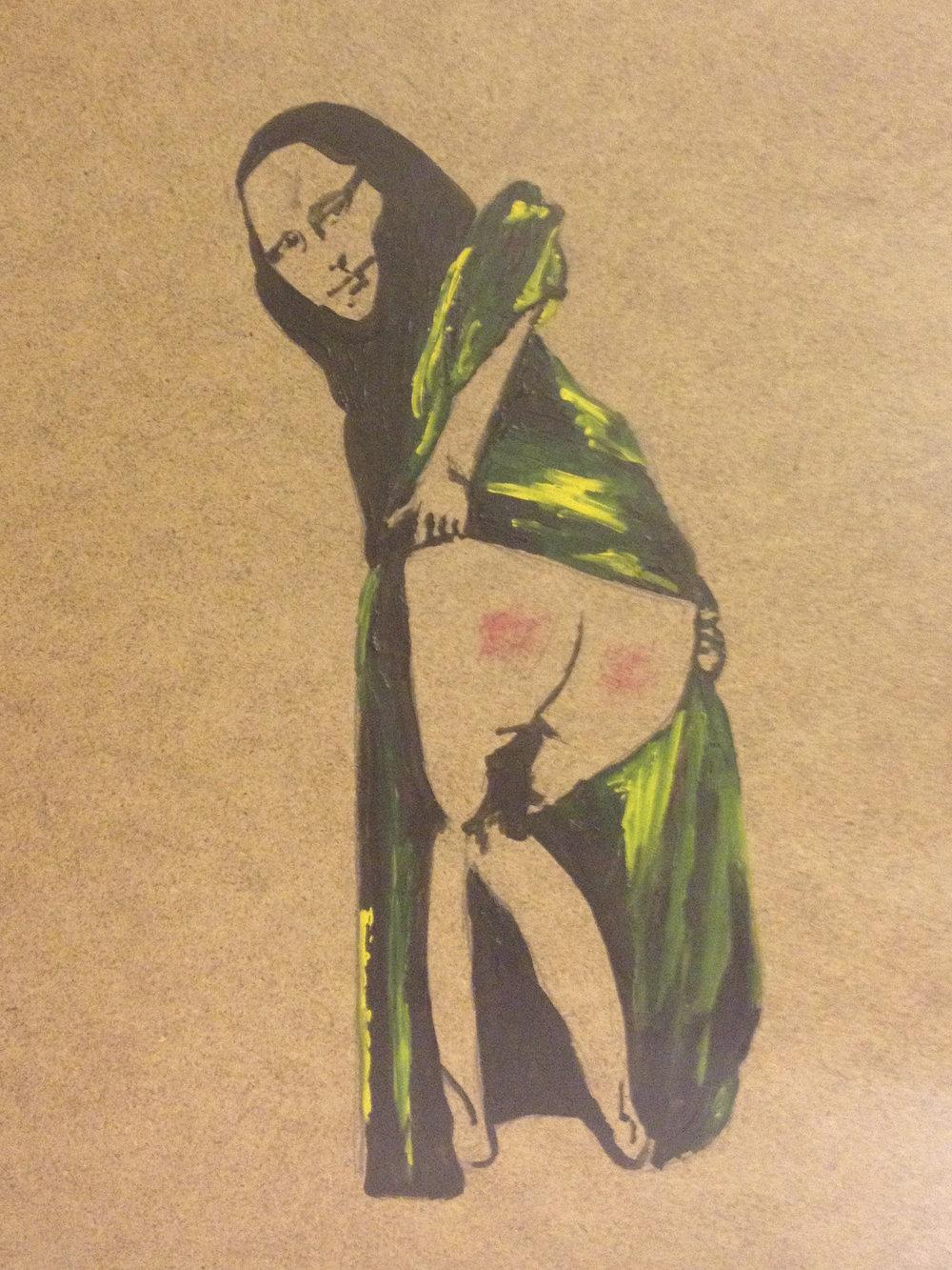 Banksy's Mona Lisa  (Acrylic on Board, 2012)