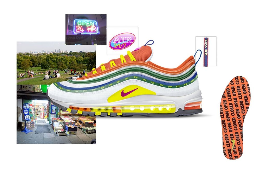 "Air Max 97 ""London Summer of Love"" by Jasmine Lasode"