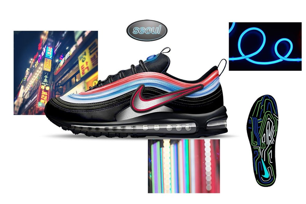"Air Max 97 ""Neon Seoul"" by Gwang Shin"