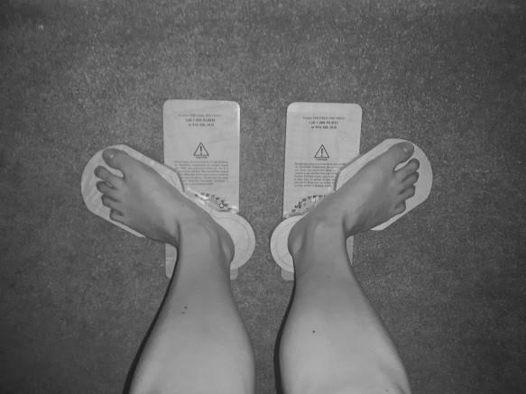 Kuva: Oonasofia Saukkonen. Functional Footprinteillä aukikierron mittaaminen.