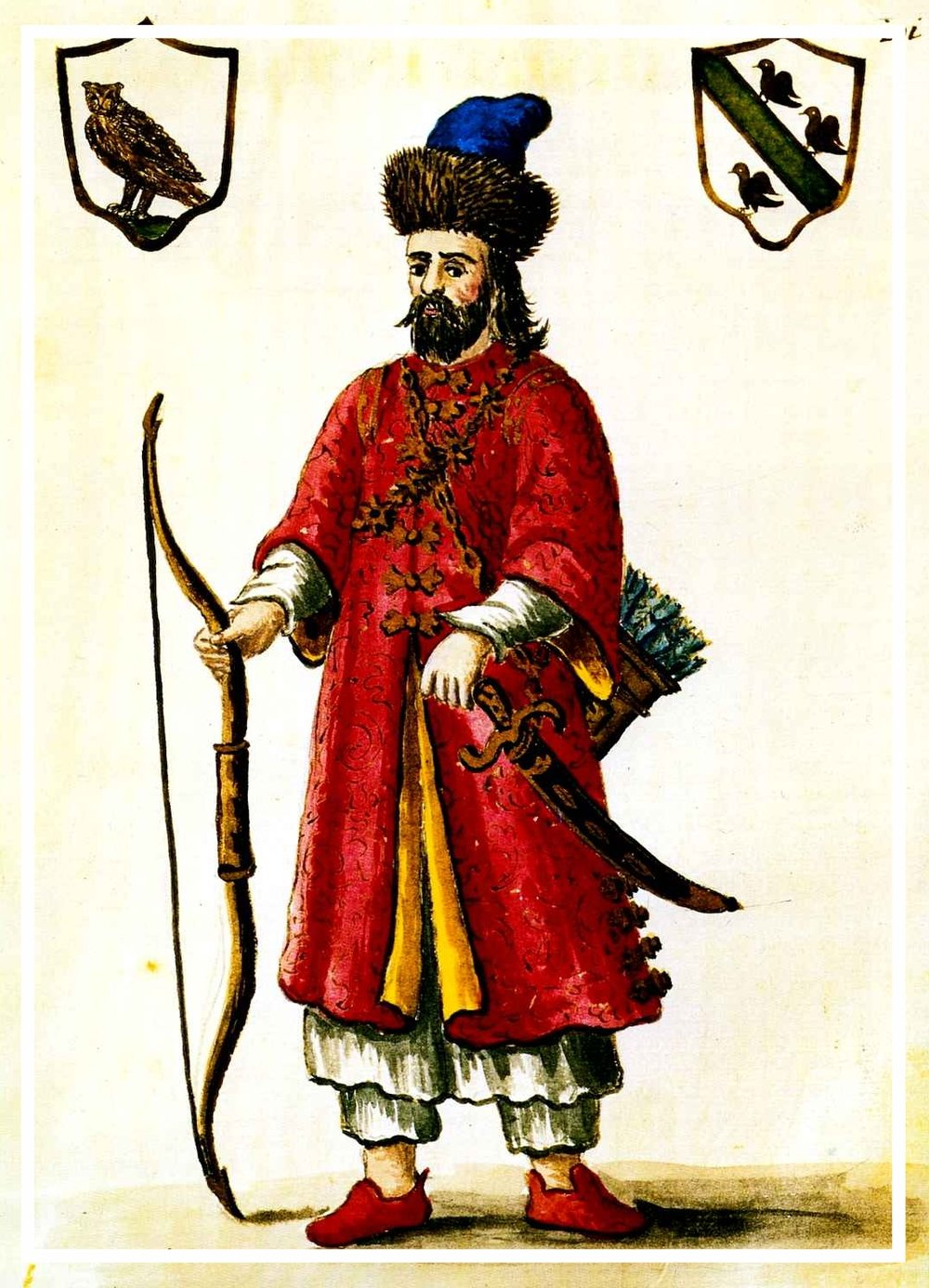 Marco Polo with Bow and Sword