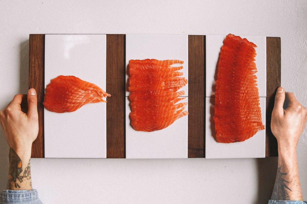smoked salmon slices - 100g / 200g / 300g