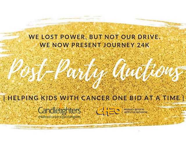 We got we got we got OPTIONS...no power Friday is not gonna stop us from trying to REACH OUR GOALS! We 🙅🏻♀️refuse🙅🏾♂️ to say #journey24k #thegoldparty is over yet (hence no celebration posts 😉).. help us help the charities we promised to do right for and get bidding!!! First auction closes SATURDAY AM!!! Thank you to our many sponsors!!! Link in profile. . . #ottawaevents #ottawalife #auction #ottawaauction #charityauction #winner #slaytheday #dontstop #helpkidswithcancer #cheo #candlelighters #gogold #yow #bidday #winning #goldenhour