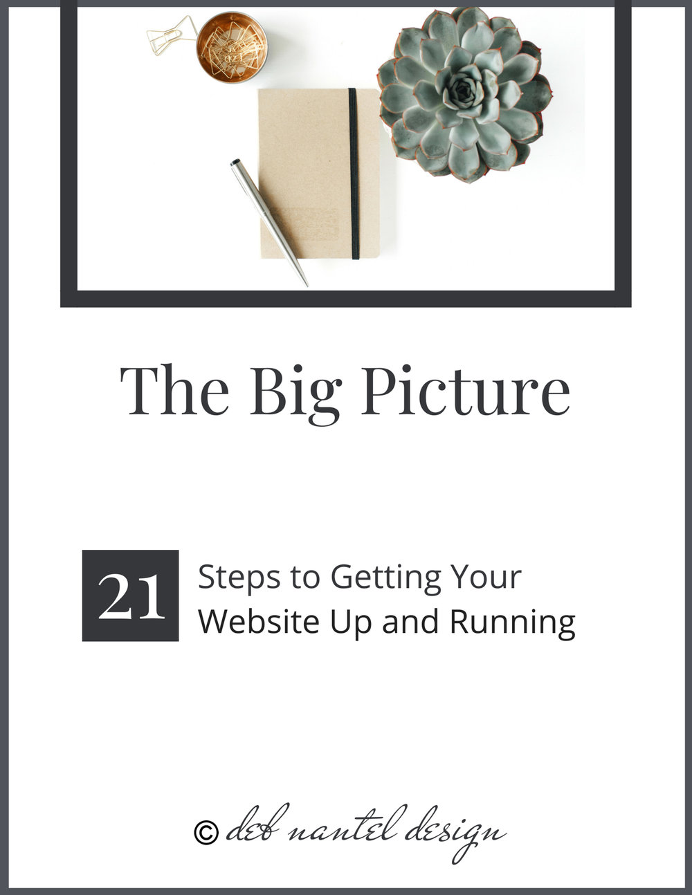 Deb Mantel's 21 Steps to getting your website up and running.