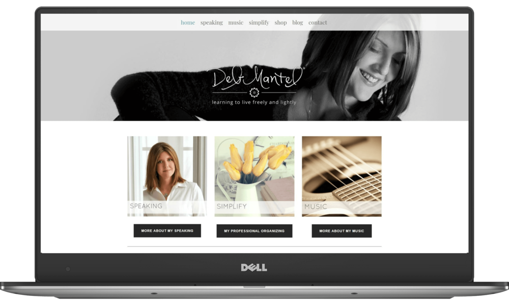 Deb Mantel website designed by Deb Mantel Design