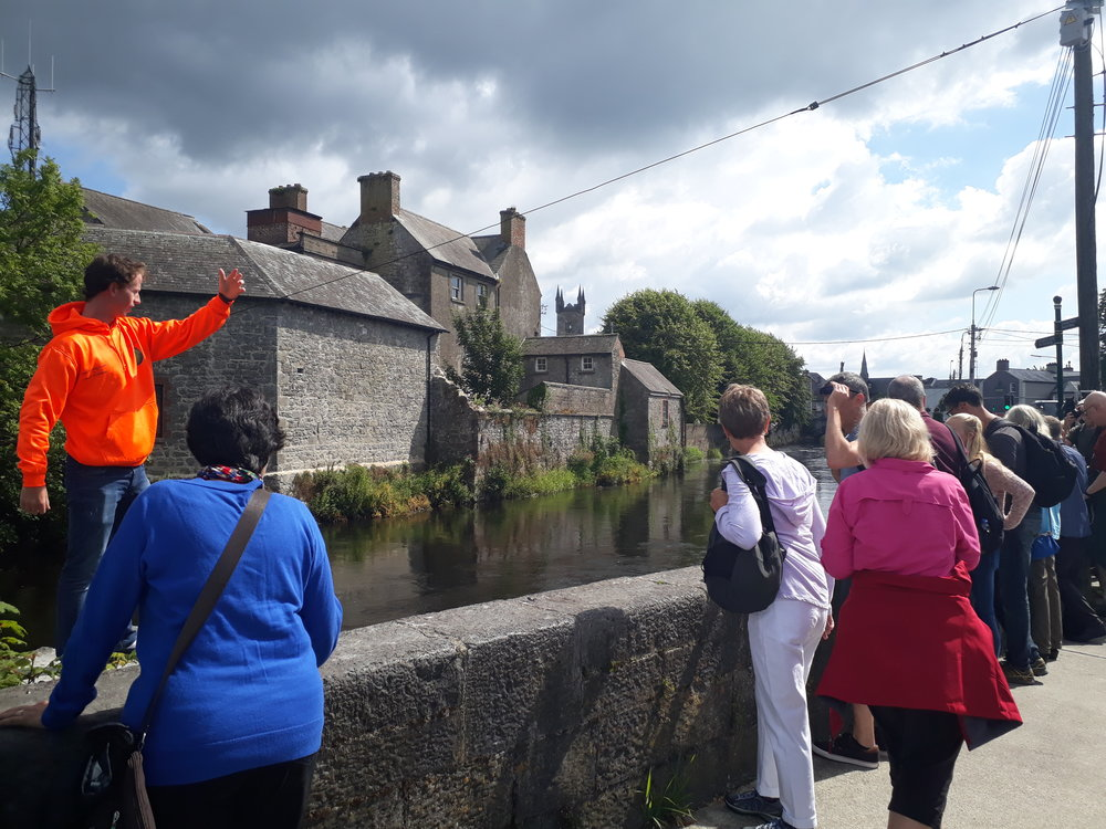 Ollie giving a walking Tour in Ennis