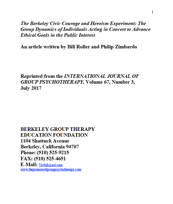 Berkeley Civic Courage and Heroism Experiment
