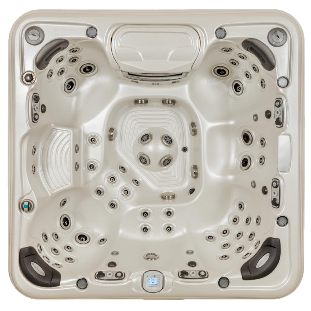 QUICK SPECS    DIMENSIONS: 91 x 91 x 38 in.  CAPACITY: 7 adults