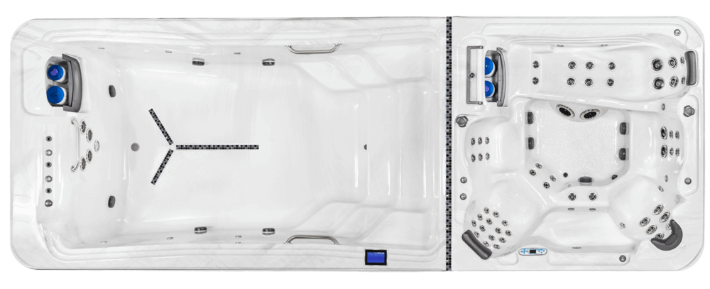QUICK SPECS    Dimensions:  250 in. x 91 in. x 54 in.  Water Capacity:  2075 gal  Dry Weight:  3036 lbs.  Heater:  5.5 kW - 60 Hz