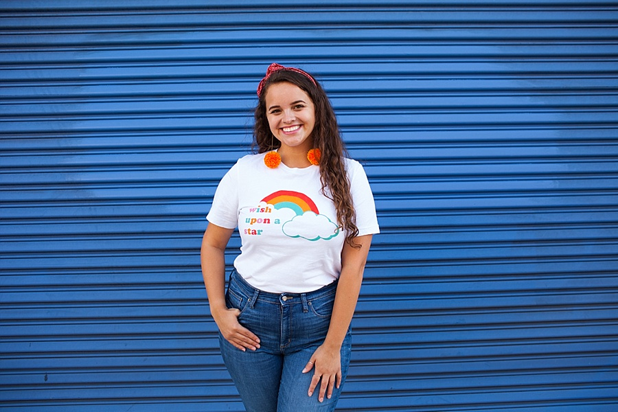 disney rainbow t shirt made of wonders