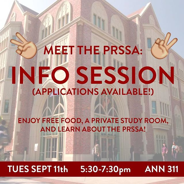 Our first event is an Info Session next Wed Sept 11th from 5:30-7:30pm in ANN311! Drop by for food, grab a membership application, and learn how to get involved 🤗✌🏼Can't wait to see you there!
