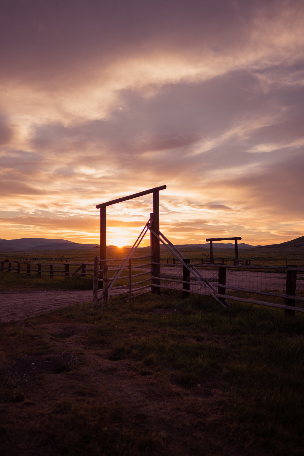 Sunset in Montana's Centennial Valley.