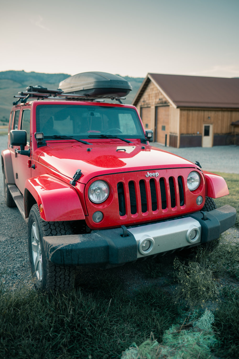 The jeep returns home to Tom Miner Basin, Montana.