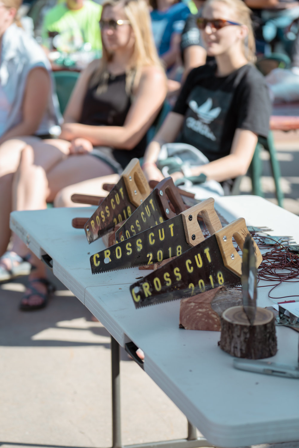 The awards at Bozeman Running Co. racing of Crosscuts at Bridger Bowl just north of Bozeman, Montana.