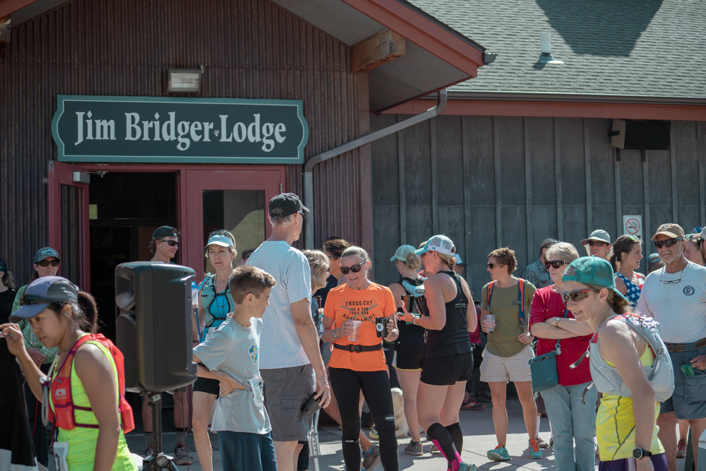 The after-party at Bozeman Running Co. racing of Crosscuts at Bridger Bowl just north of Bozeman, Montana.