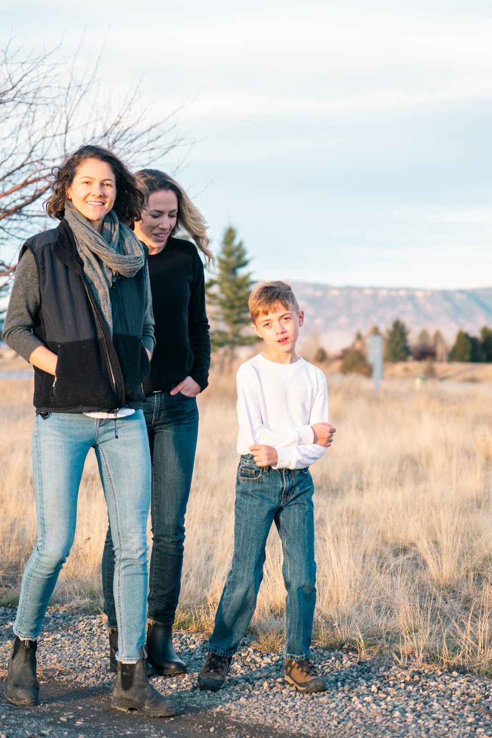 The Clougherty Family gets together in Paradise Valley, Montana.