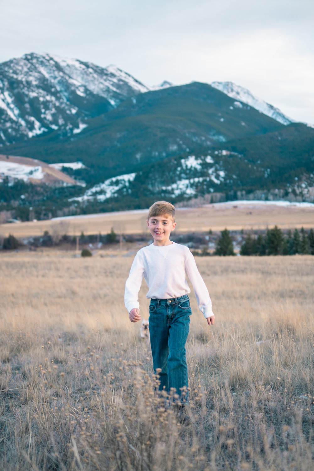 A portrait of a young boy in Paradise Valley, Montana.