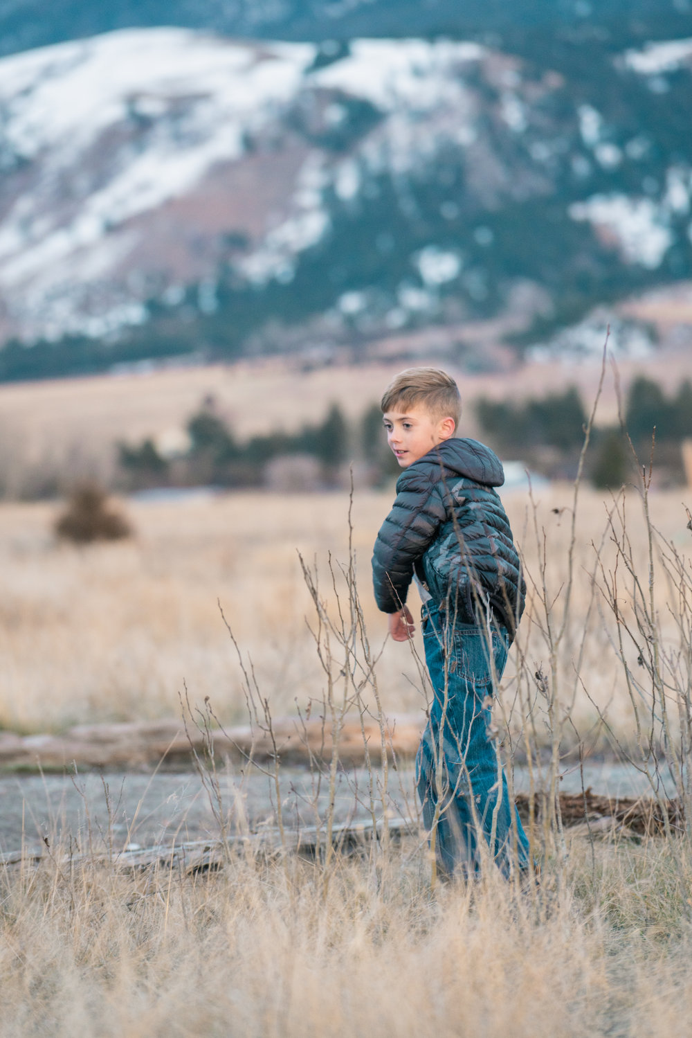 A portrait of a young boy in Montana's Paradise Valley.