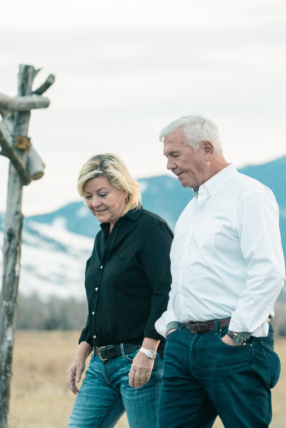 Candid family portraits in Montana's Paradise Valley.
