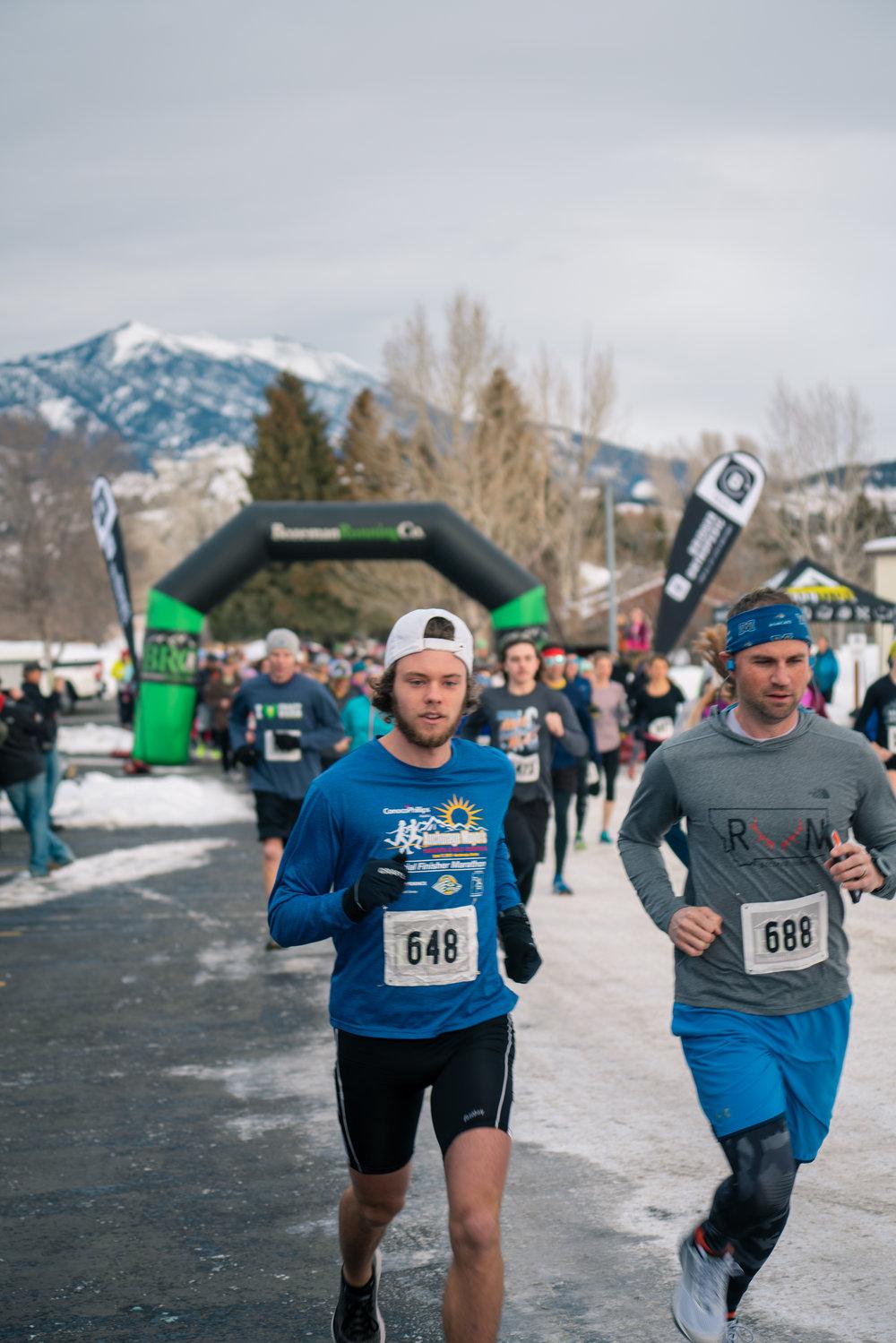 The start of Bozeman Running Co.'s racing of the Bear near Bozeman, Montana.