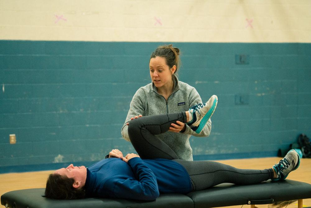 Massage from Bridger Orthopedic after Bozeman Running Co.'s racing of the Bear near Bozeman, Montana.