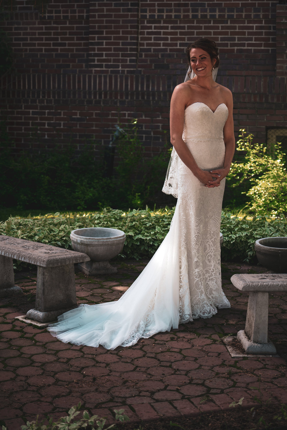 The bride photographed before her wedding in Lewistown, Montana.