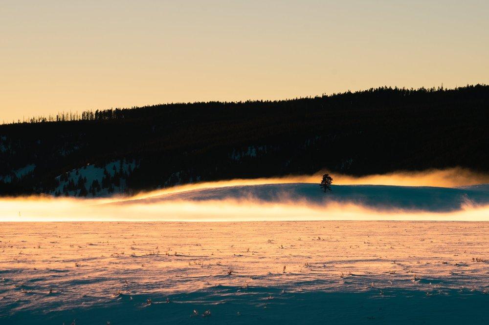 Sunset at Alum Creek, Yellowstone National Park