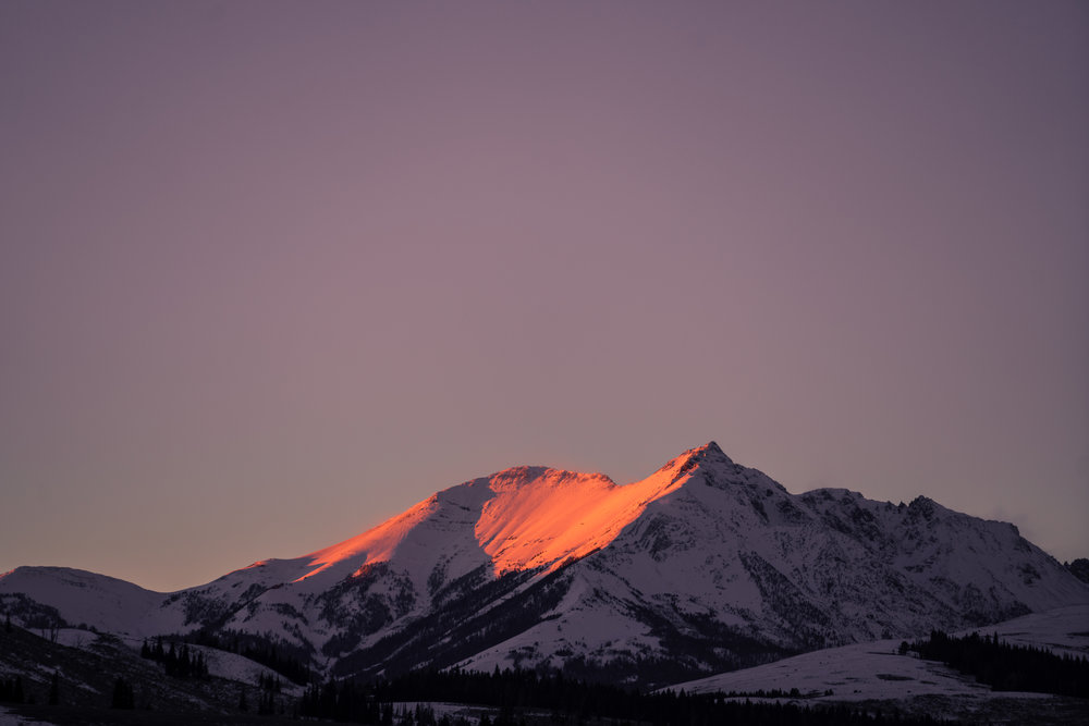 Sunset on Electric Peak, Yellowstone National Park.
