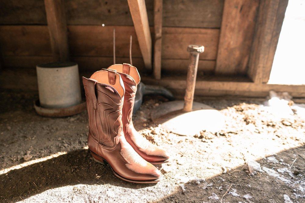 Tecovas boots in eastern Montana.