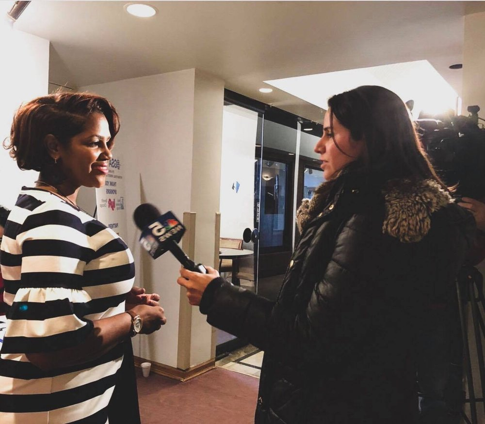 GSA CEO APPRECCIA FAULKNER - ...being interviewed by NBC Chicago on the International Women's Day event held by Global Strategists Association.