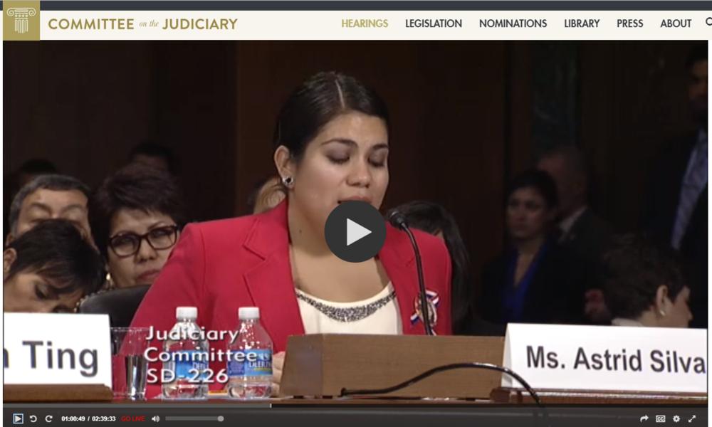 Astrid Silva's testimony begins at 59:28