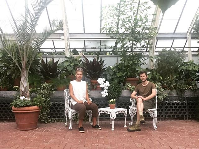 Sitting in a greenhouse instead of working . . . #niceface #playinghooky #greenhouse #selfcare