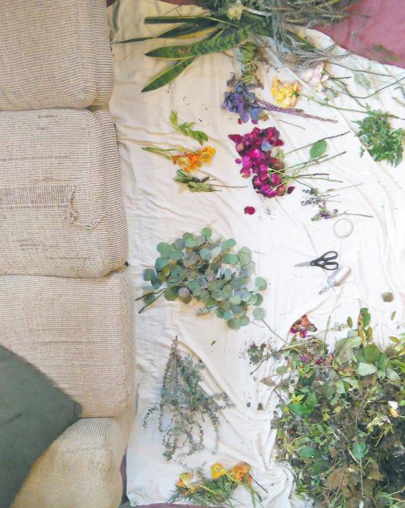 floral scraps