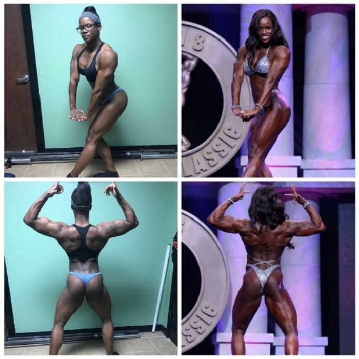 Essence Ashford - 12 week transformation in preparation for first Arnold Classic, 9th place overall in Pro Women's Physique.