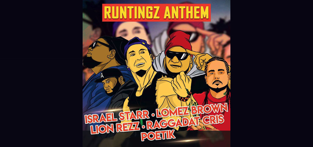 Runtingz Family - Consisting of 5 artists from different Genre's and Styles, The Runtingz Family is a record label making a lot of buzz. Its members are Israel Starr, Lomez Brown, Lion Rezz, Raggadat Cris and POETIK. Filled with so much talent, this crew is only starting something that has the potential to reach the entire world by storm. When you have great singers, rappers, musicians and producers in a single group like this one, good things happen artistically!