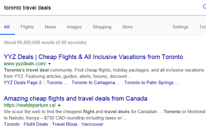 This Google search result shows two of the best deals' site based in Toronto.