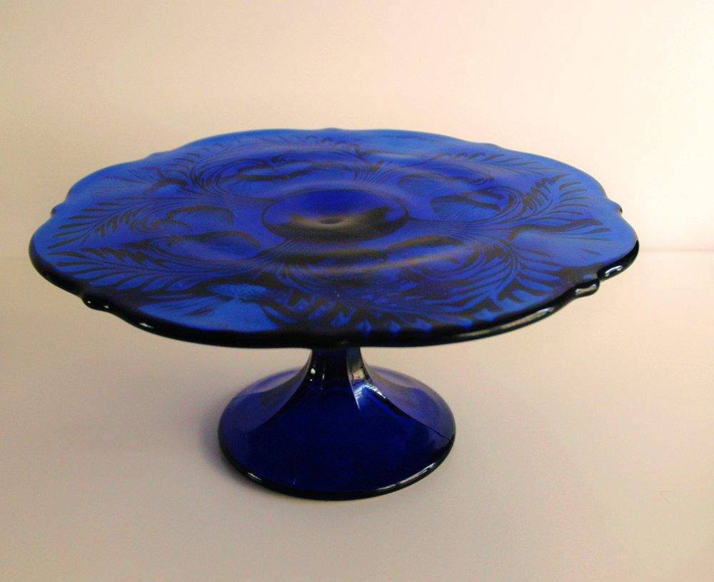 "Blue Thistle- 8 3/4"" Diameter x 4 1/4"" High"