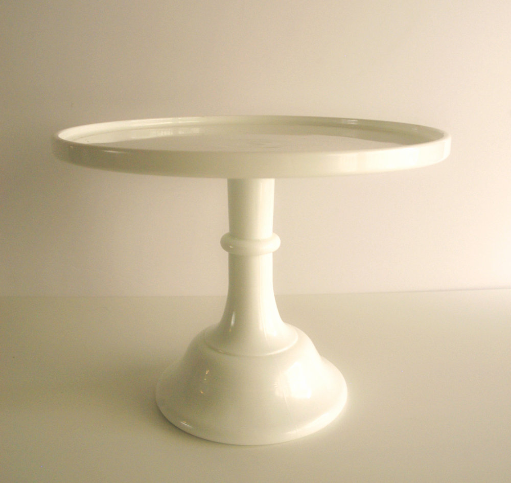 "Pure White- 10"" in diameter and 8"" high"