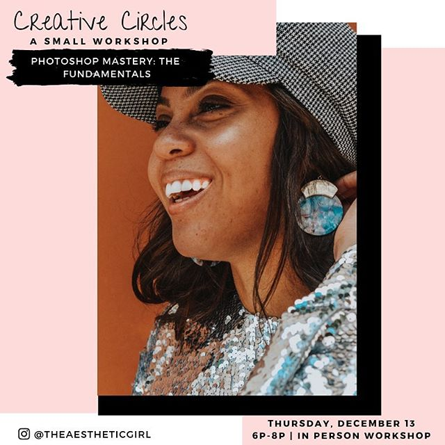 💥Next up! Graphic babes! DIY babes! Our next Creative Circles workshop is Photoshop Mastery: The Fundamentals taught in-person by @theaestheticgirl on 12.13!⁣⁣ ⁣⁣ 👩🏽‍💻 In this Workshop you will learn how to design:⁣⁣ ⁣⁣ • Basic Logos⁣⁣ ⁣⁣ • Business Cards⁣⁣ ⁣⁣ • Instagram Ad⁣⁣s ⁣⁣ • GIF Design for Instagram Stories ⁣⁣ • Email Newsletter⁣⁣s ⁣⁣ • Email Signature⁣⁣s ⁣⁣ So much value in only 2 hours! Register at the link in our bio! #morethanbrunch⁣⁣ ⁣⁣