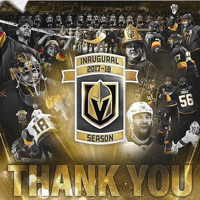 Thank you @vegasgoldenknights for an amazing season. Thank you for letting us be a part of it. Thank you for bringing our community together. Thank you thank you thank you for sharing this awesome journey. We will be fans and supporters forever. #goknightsgo