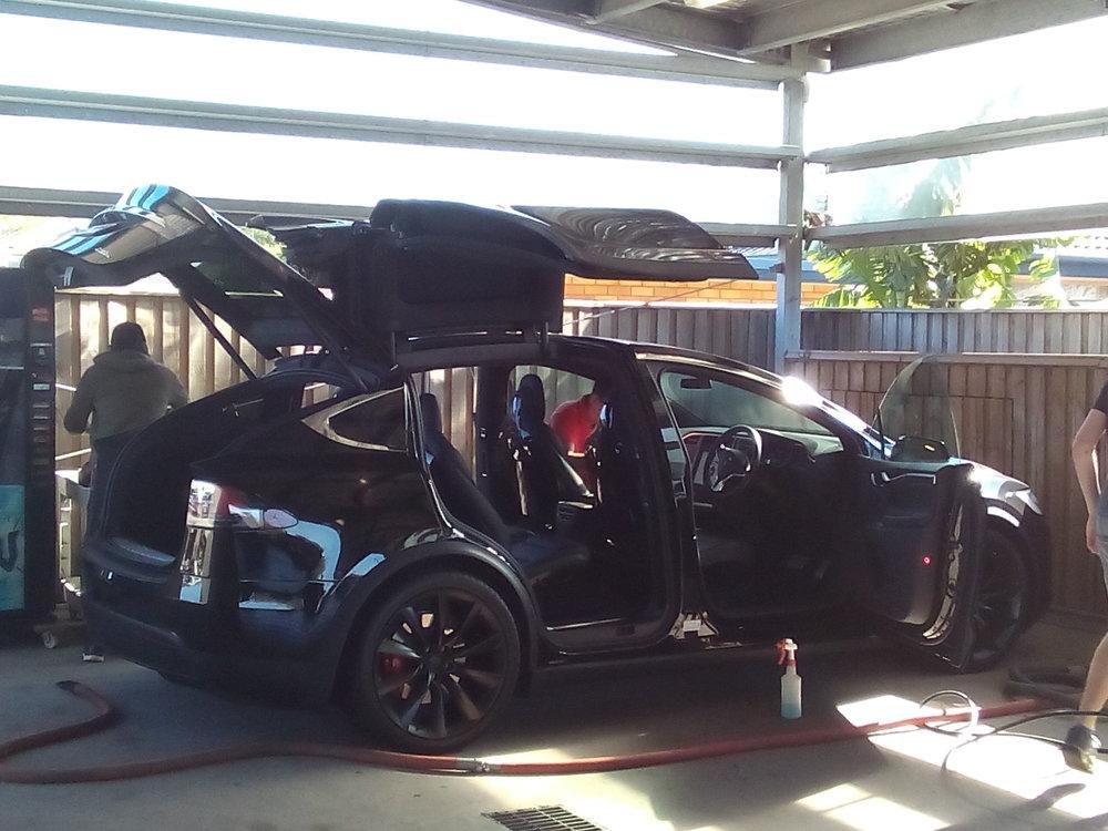 Washing a Tesla