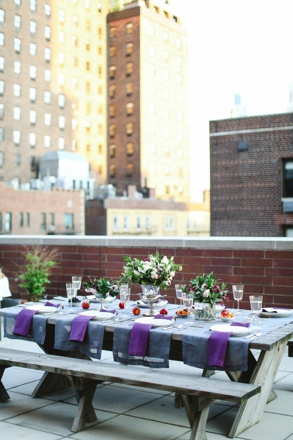 Wonderful rooftop engagement party!
