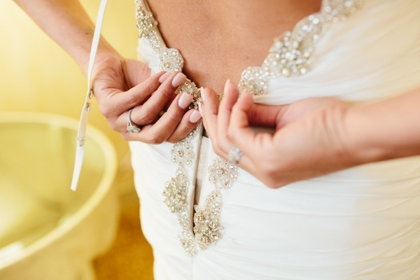 Glam beaded wedding gown