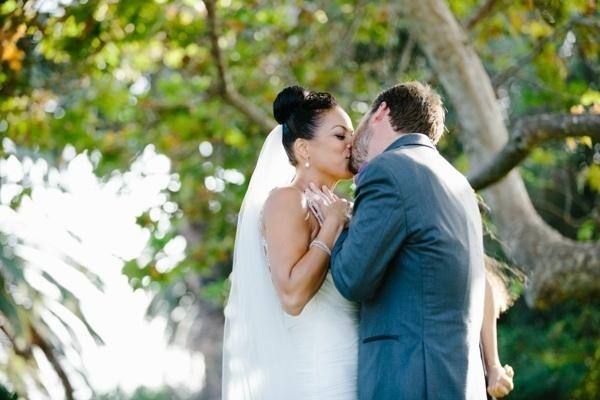 Gorgeous outdoor Malibu wedding ceremony