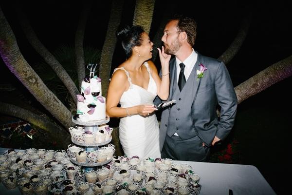 Cutting the cake -- so sweet!